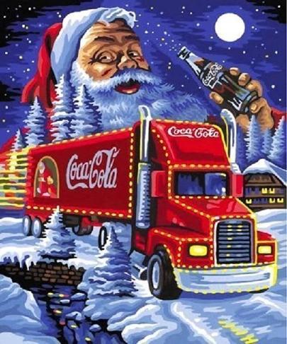 Diamond Painting-billede med julemotiv: Coca Cola-lastbil