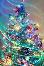 Farverigt juletræ