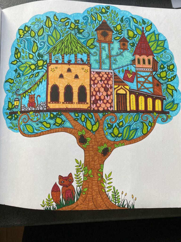 Malebøger for voksne - Billede af et træ